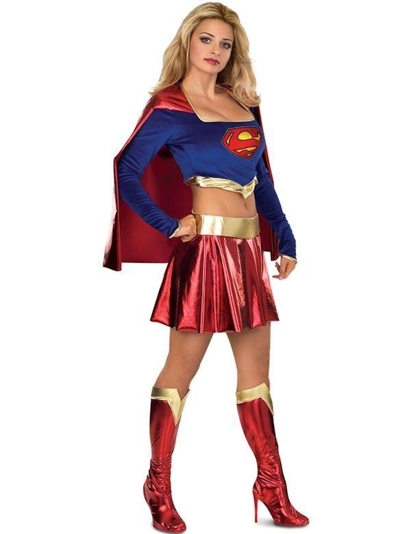 Sexy Supergirl Superheld Vrouw Kostuum