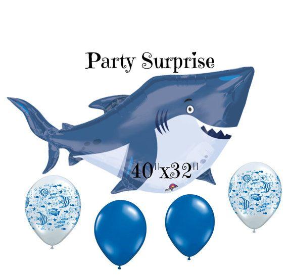 Jumbo Shark Balloon Great White Fish Ocean by PartySurprise