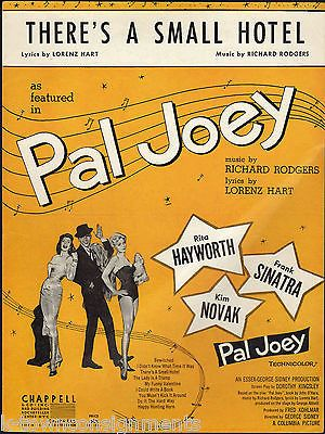 THERE'S A SMALL HOTEL PAL JOEY RICHARD RODGERS FRANK SINATRA 1930s SHEET MUSIC