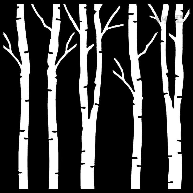 Birch Tree Stencils For Nursery