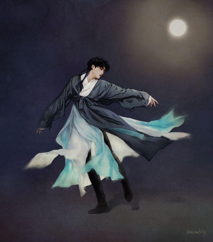 [FANART] PEONGCHANG HANBOK NAMJA by DancingBilly