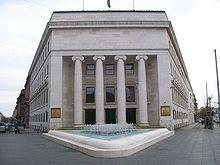 Banco Nacional de Croacia en Zagreb, capital de Croacia.