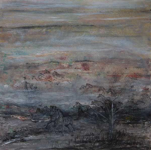 """Zebra Flight"" by Melanie Meyer from her Emergence Art Gallery in Cape Town"
