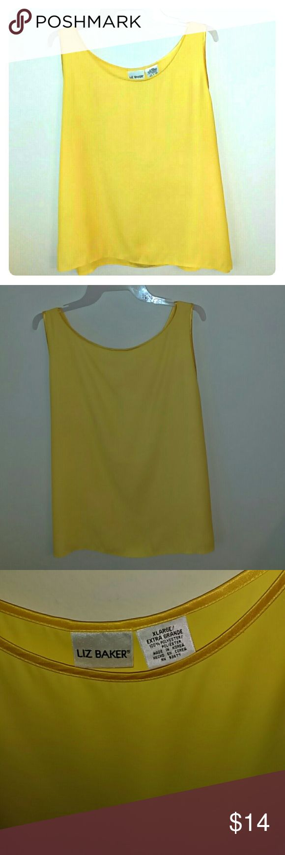 Yellow Tank Top Flowy and elegant sunflower yellow top. Great condition. Liz Baker Tops Tank Tops