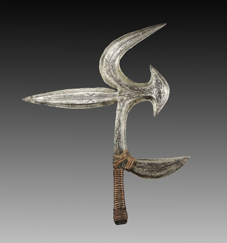 Ngbaka - 39 x 32 cm - African throwing knifes - African Weapons