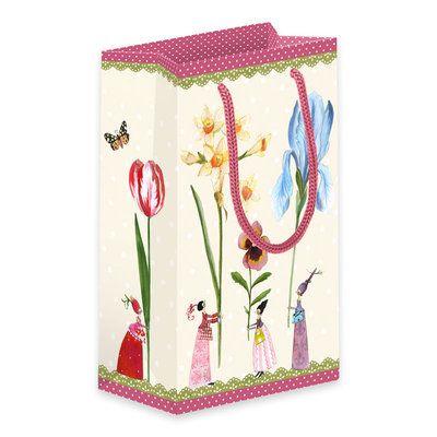 """Geschenktüte """"Blumenfrauen"""" von Silke Leffler #Grätz #SilkeLeffler"""