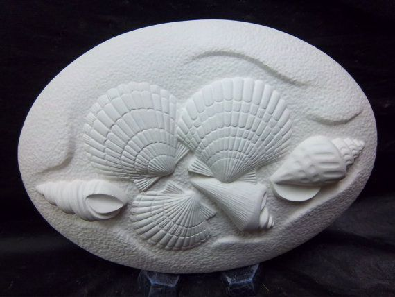 Seashell ceramic bisque insert for welcome sign by yellowstonepath