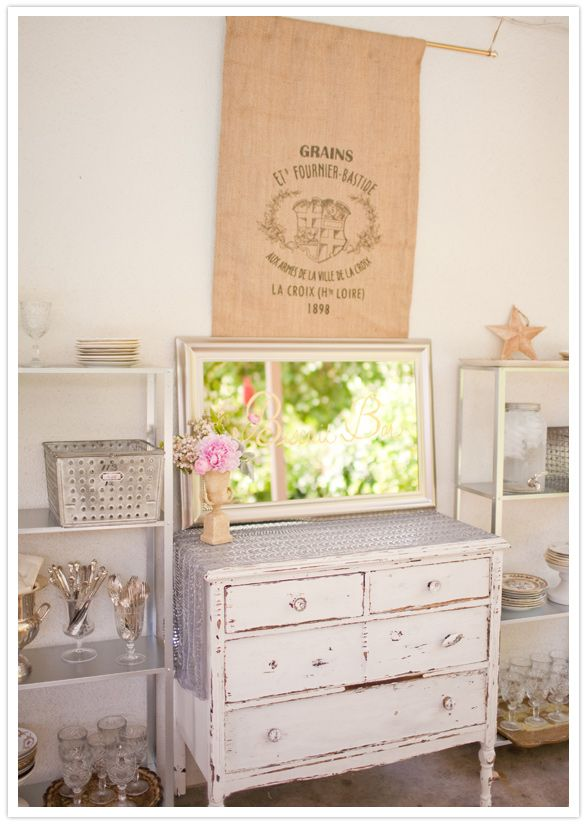 antique baby shower decor