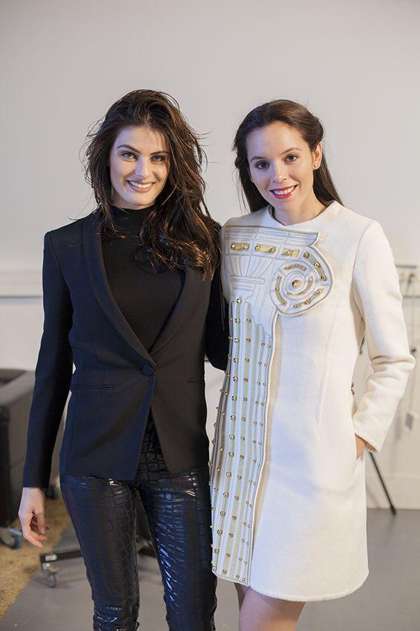 With Isabeli Fontana at Paris Fashion Week!