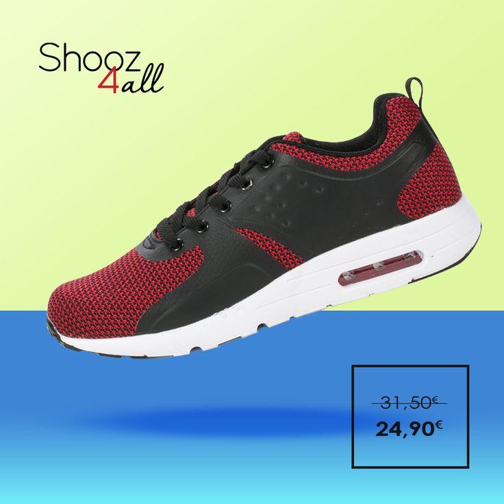 Με μοναδικό συνδυασμό κόκκινου και μαύρου χρώματος, αθλητικά παπούτσια ανδρικά για το γυμναστήριο και τις sport εμφανίσεις σας. Η αντικραδασμική αερόσολα που διαθέτουν θα σας χαρίσει άνετο και μαλακό πάτημα. http://www.shooz4all.com/el/andrika-papoutsia/kokkina-athlitika-papoutsia-me-aerosola-fxz03-detail #shooz4all #athlitika #andrika