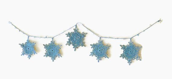 Christmas Garland Small Snowflake Bunting Winter Decoration
