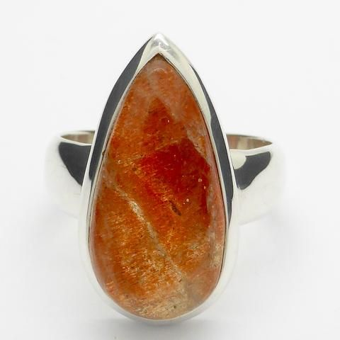 Sunstone Ring Goethite Feldspar Silver Australian Supplier