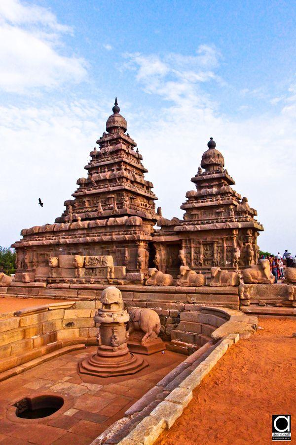 Ancient Mahabalipuram Temple, Chennai, Tamil Nadu, India. I've definitely been there. :)