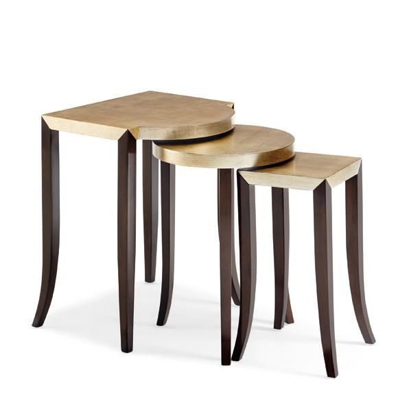 Caracole Classic Contemporary Nesting Side Table Discount Furniture At  Hickory Park Furniture Galleries