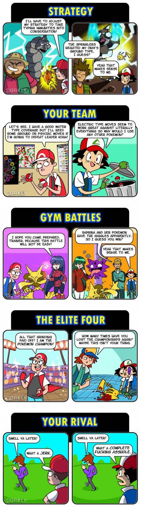 Pokemon Games VS Anime