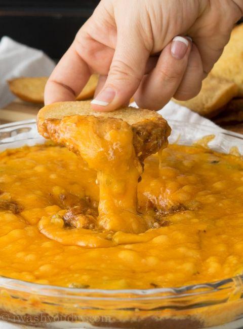 Cheesy Chili Taco Dip