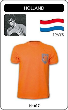 Nederland voetbalshirt jaren '60 Holland retro voetbal truitje football soccer vintage sport COPA