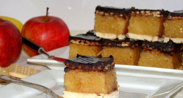 Kekszes almás süti recept