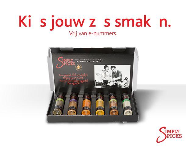 Al onze kruiden zijn E-nummervrij. Kies jouw zes smaken op http://www.simplyspices.nl