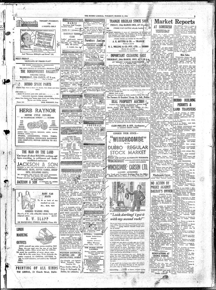 Dubbo Liberal And Macquarie Advocate (NSW) - Australian Newspapers - MyHeritage