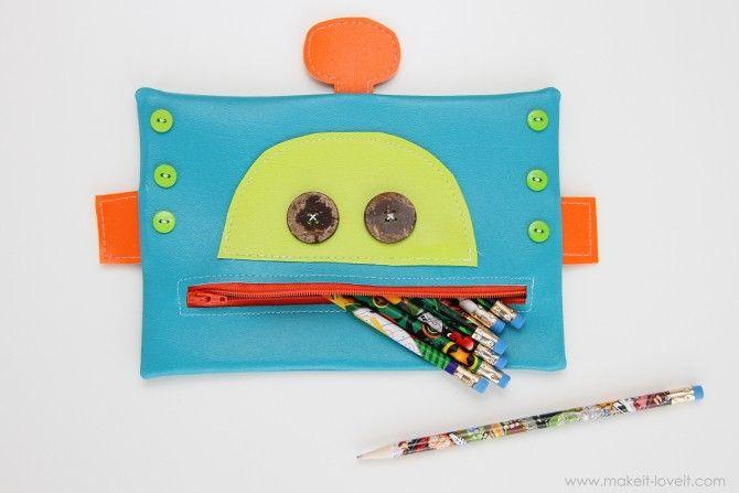 robot pencil case!