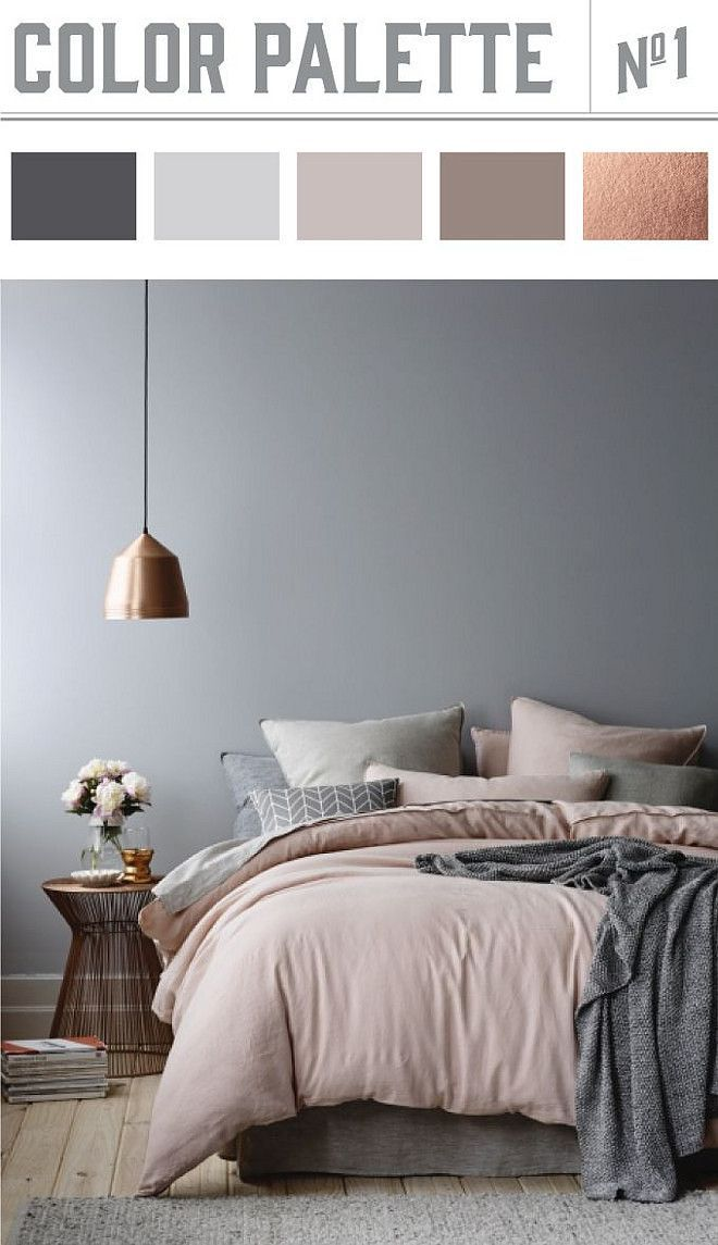 Bedroom Color Palette. Copper And Muted Colors In Bedroom Results In A  Winner Color Palette