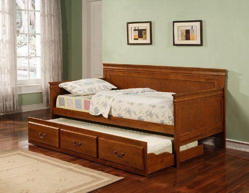 Coaster Home Furnishings 300036OAK Traditional Daybed, Oak