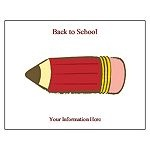 Back to school postcard template.    Free Avery® Template for Microsoft® Word, Postcard 3263, 3377, 3381, 5689, 8383, 8387, 8577