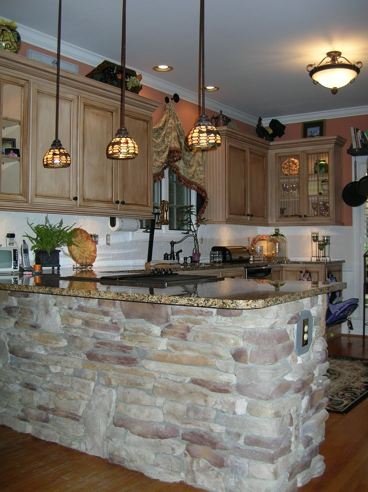 1000 Images About Stone Kitchen Bar Island On Pinterest