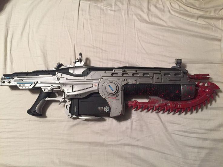 Cool Gears of War Lancer from Neca. This is a badass gun... #gearsofwar #micosoft #gow #lancer #gaming #game #videogame