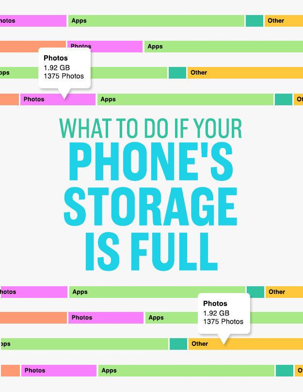 Take half an hour to delete and reorganize things on your phone so it stops telling you that your storage is almost full. | 7 Quick Organizing Tricks You'll Actually Want To Try