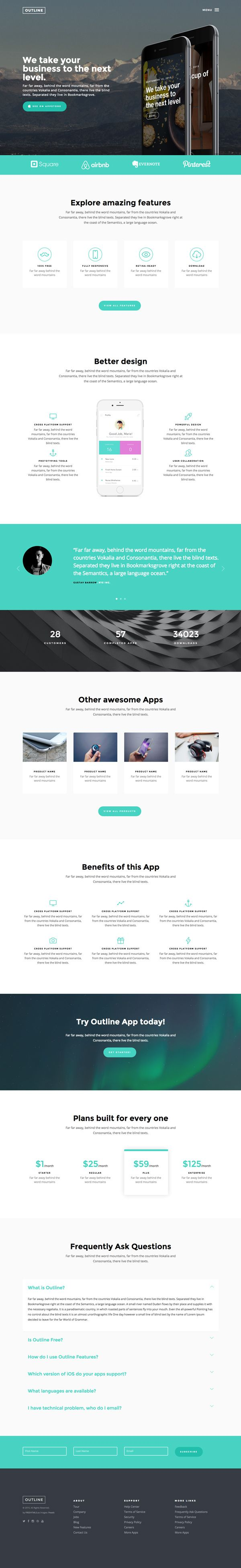 The freebie of the day is a multi-purpose, responsive HTML5 template that stands out through smooth and sleek animation...