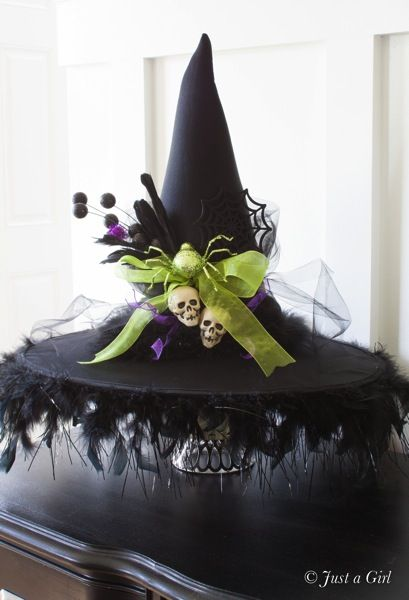 Decorated witch hat | justagirlblog.com