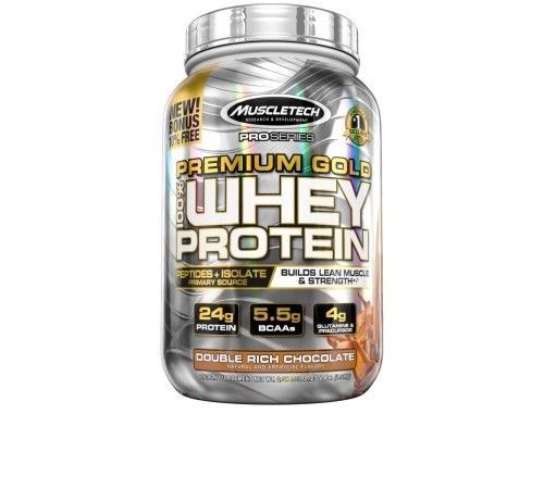 MuscleTech ProSeries Premium Gold Whey Protein Powder, Double Rich Chocolate, 40 #MuscleTech