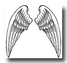 free printable angel stationary | Pictures of Angel Wings :: Image 2