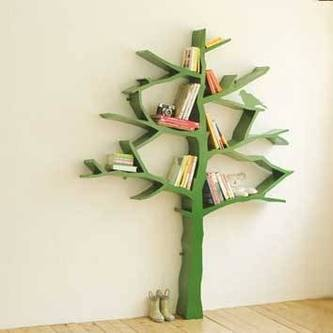 This Is More My Style For A Bookshelf Tree Diy Idea For Kids Rooms