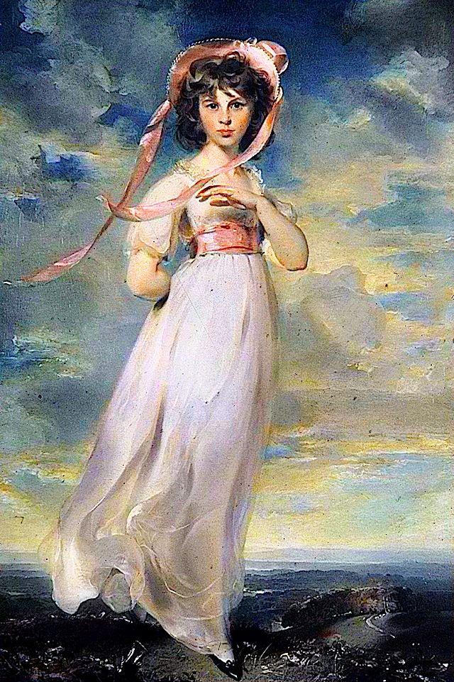 "1794 Sarah Barrett Moulton by Sir Thomas Lawrence, ""Pinkie"" (Huntington Library, Pasadena USA)"
