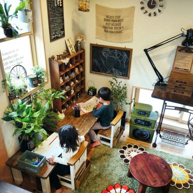 kiyomiちゃんのリメ缶/お義父さん手作り車輪/コウモリラン/ミシン台…などのインテリア実例 - 2015-06-06 12:40:40 | RoomClip(ルームクリップ)