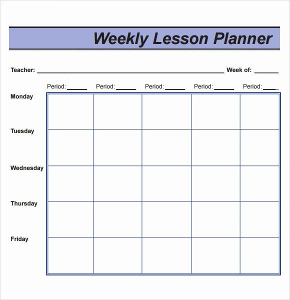 40 Weekly Lesson Plan Template Pdf Weekly Lesson Plan Template