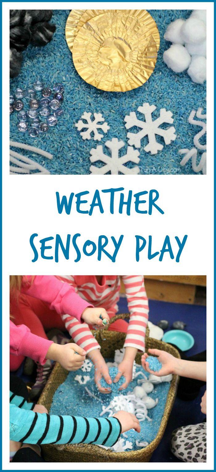 Preschool weather activities - AWESOME weather sensory play  #PLAYfulpreschool