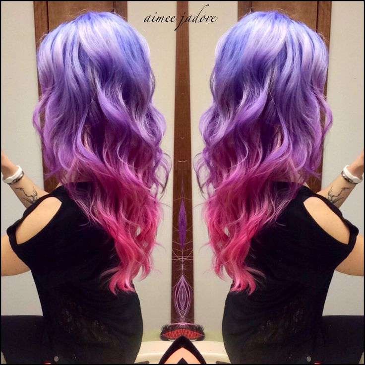 Love My Ombr 233 Pink And Purple Hair So Fun Blonde