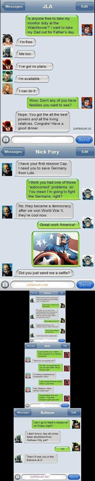 Top 5 Hilarious Text Messages About Batman vs. Superman