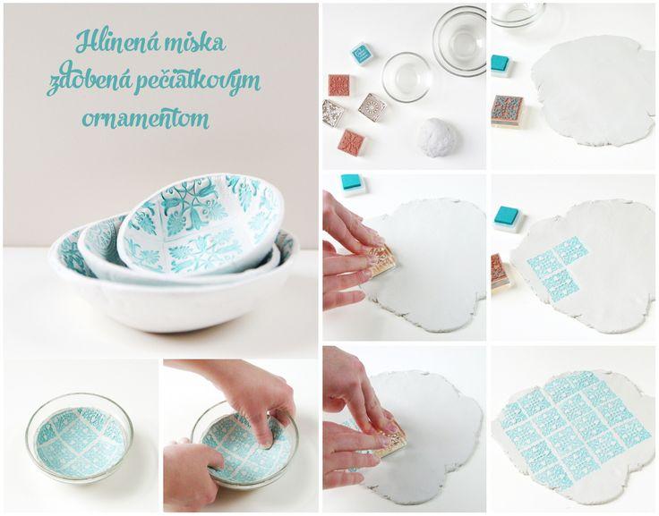 Máme pre vás nápad ako použiť pečiatku trochu inak, zdroj: www.gatheringbeauty.com/2014/06/diy-stamped-clay-bowls_18.html#.U_4TFEj9l7-
