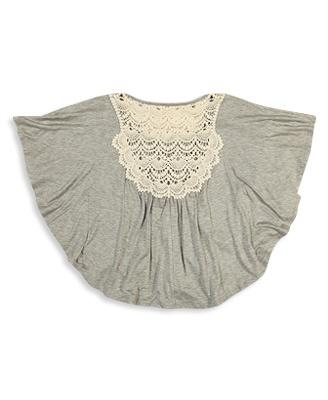 Crochet Poncho Top | FOREVER21 girls -