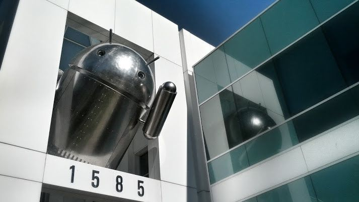 Google's Latest Android Statue Is  Resplendent in Chrome, 2013