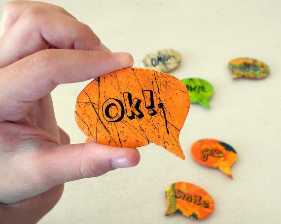 Custom message  Fridge Magnets  Yolo  by ArtFlyCreations on Etsy