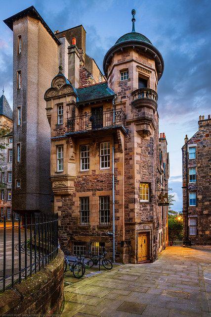 The Writers Museum ~ celebrates the lives of three Scottish writers-Robert Burns, Sir Walter Scott & Robert Louis Sevenson, Edinburgh,Scotland