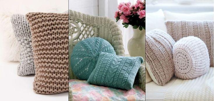 Vankúše pletené