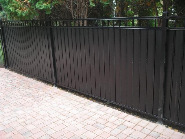 Privacy Slats In Ornamental Iron Fence Wrought Iron Fences