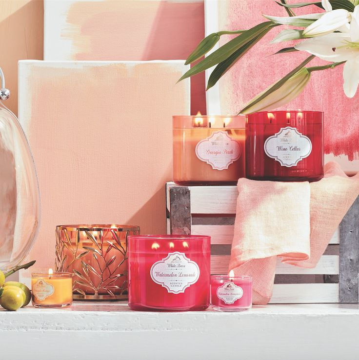 Pretty in pinks, reds, peach & orange to warm your space with major WOW!